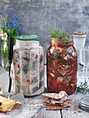 White and red pickled herring