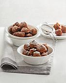 Sweet potato and cocoa croquettes