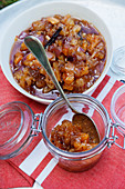 Sweet and sour eggplant fruit chutney