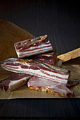 Smoked bacon and smoked ham