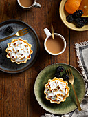 Seville orange meringue tarts