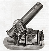 Foucault's telescope, illustration