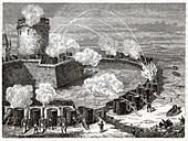 Siege of a city, illustration