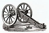 Prussian gun, illustration