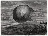 Ballon built by Nadar, illustration