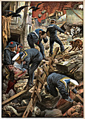 Earthquake in Sicily, illustration