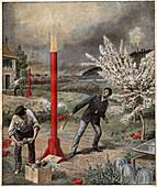 Hail cannon, illustration