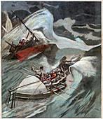 Sea rescue, illustration