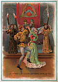 Dancing with torches , illustration