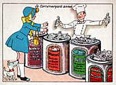 Nestle candies, illustration
