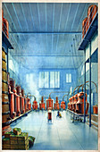 Benedictine distillery, illustration