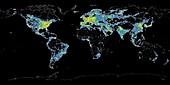 Light pollution, global map