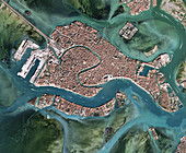 Venice, Italy, in 2019, satellite image