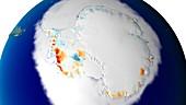 Twenty-five years of Antarctic ice loss, 1993 to 2018