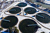 Sewage treatment plant, Michigan, USA