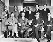 George Uhlenbeck, Dutch-American physicist with maths club,