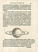 Saturn from Huygens's 'Systema Saturnium' (1655)
