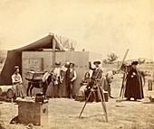 Solar eclipse observers, 1860