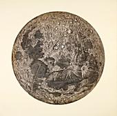 Cassini's Moon map, 1679
