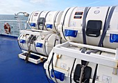 Life rafts on ferry
