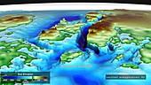 Seabed topography beneath Denman Glacier, Antarctica
