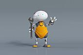 Robot mechanic, illustration