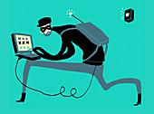 Cyber crime, conceptual illustration