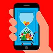 Food waste app, illustration