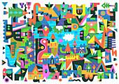 Townscape, illustration