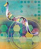Genetic research, illustration