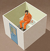 Damage of solitary confinement, illustration