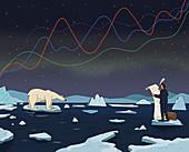 Climate change legislation, conceptual illustration