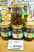 Insect snacks at Japanese farmers market