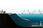 Future recovery of the wreck of RMS Titanic, illustration