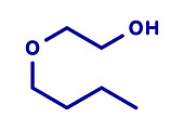 2-butoxyethanol molecule, illustration
