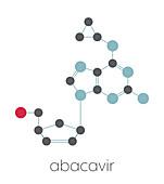 Abacavir reverse transcriptase inhibitor drug, illustration