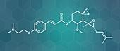 Beloranib obesity drug molecule, illustration