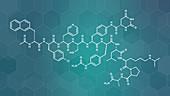 Degarelix prostate cancer drug molecule, illustration