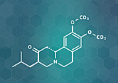 Deutetrabenazine Huntington disease drug molecule