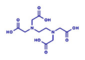 EDTA complexing agent molecule, illustration
