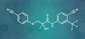 Enobosarm drug molecule, illustration