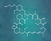 Everolimus immunosuppressant molecule, illustration