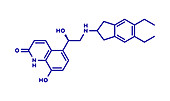 Indacaterol COPD drug molecule, illustration