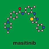 Masitinib cancer drug molecule, illustration