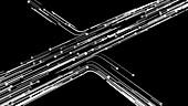Network traffic, conceptual illustration