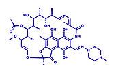 rifampicin tuberculosis antibiotic drug, illustration