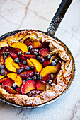 Stone fruit phyllo galette
