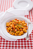 Sweet potato gnocchi with prawn ragout