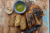 Oat bread with poppy seeds