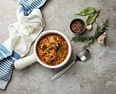 Caldereta de cordero navidena - Spanish lamb stew for Christmas